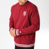 /achat-sweats-col-rond-crewneck/new-era-sweat-crewneck-team-apparel-new-york-yankees-11788917-bordeaux-158528.html
