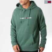 /achat-sweats-capuche/tommy-hilfiger-jeans-sweat-capuche-small-logo-5146-vert-158577.html