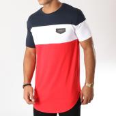 /achat-t-shirts-longs-oversize/gianni-kavanagh-tee-shirt-oversize-gkg789-bleu-marine-blanc-rouge-158666.html