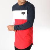/achat-t-shirts-longs-oversize/gianni-kavanagh-tee-shirt-manches-longues-oversize-gkg788-bleu-marine-blanc-rouge-158668.html