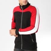 /achat-vestes/gov-denim-sweat-zippe-avec-bandes-g18020ust-noir-blanc-rouge-158652.html