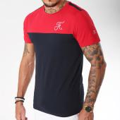 /achat-t-shirts/final-club-tee-shirt-bicolore-avec-broderie-116-bleu-marine-rouge-158753.html