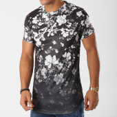 /achat-t-shirts-longs-oversize/good-for-nothing-tee-shirt-oversize-1018gfn006-noir-floral-blanc-158752.html