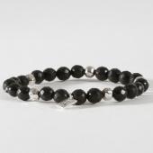 /achat-bracelets/icon-brand-bracelet-pinstripe-beaded-noir-argente-158696.html