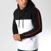 /achat-sweats-capuche/lbo-sweat-capuche-bicolore-avec-bandes-noir-et-rouge-541-noir-blanc-158761.html