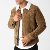 /achat-vestes/only-and-sons-veste-velours-col-fourrure-sherpa-mode-corduroy-marron-158703.html
