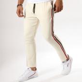 /achat-pantalons-carreaux/frilivin-pantalon-avec-bandes-bm1052-beige-158859.html