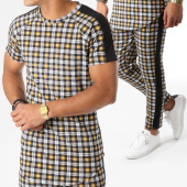 /achat-ensembles-survetement/frilivin-ensemble-tee-shirt-oversize-et-pantalon-a-carreaux-5122a-jaune-158885.html