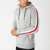 /achat-sweats-capuche/good-for-nothing-sweat-capuche-avec-bandes-1018gfn051-gris-chine-158766.html