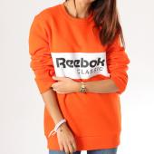 /achat-sweats-col-rond-crewneck/reebok-sweat-crewneck-classics-dx2346-orange-158789.html