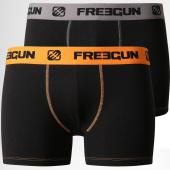 /achat-boxers/freegun-lot-de-2-boxers-duo-noir-gris-orange-158984.html