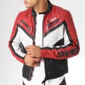 /achat-vestes-cuir/redskins-veste-en-cuir-aston-calista-noir-blanc-rouge-158969.html