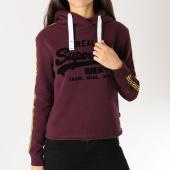 /achat-sweats-capuche/superdry-sweat-capuche-femme-avec-bandes-vintage-logo-league-college-prune-159053.html