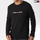 /achat-pulls/tommy-hilfiger-jeans-pull-small-logo-5829-noir-159136.html
