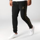 /achat-pantalons-joggings/final-club-pantalon-jogging-gold-label-avec-bandes-et-broderie-or-113-noir-159266.html