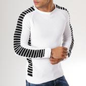 /achat-pulls/john-h-pull-avec-bandes-jp11-blanc-159208.html