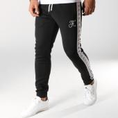 /achat-pantalons-joggings/final-club-pantalon-jogging-avec-bandes-blanches-et-broderie-096-noir-159328.html