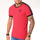 /achat-t-shirts/final-club-tee-shirt-premium-fit-avec-bandes-138-rouge-159424.html