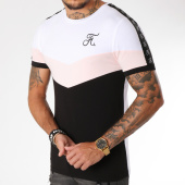 /achat-t-shirts/final-club-tee-shirt-retro-tricolore-148-rose-noir-blanc-159432.html