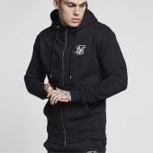 /achat-sweats-zippes-capuche/siksilk-sweat-capuche-muscle-fit-13227-noir-159368.html