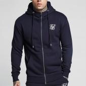 /achat-sweats-zippes-capuche/siksilk-sweat-zippe-capuche-muscle-12888-bleu-marine-159370.html