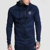 /achat-sweats-zippes-capuche/siksilk-sweat-zippe-capuche-oversize-athlete-13129-bleu-marine-159373.html