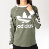 /achat-t-shirts-manches-longues/adidas-tee-shirt-manches-longues-femme-original-dh4723-vert-kaki-blanc-159452.html