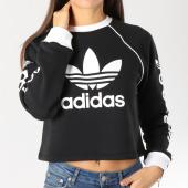 /achat-sweats-col-rond-crewneck/adidas-sweat-crewneck-crop-femme-sweater-dh4714-noir-blanc-159459.html