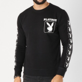 /achat-sweats-col-rond-crewneck/playboy-sweat-crewneck-sleeve-bunny-noir-159566.html