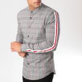 /achat-chemises-manches-longues/uniplay-chemise-manches-longues-avec-bandes-t555-noir-blanc-rouge-159457.html