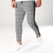 /achat-pantalons-carreaux/aarhon-pantalon-carreaux-avec-bandes-3-18-228d-gris-noir-159675.html