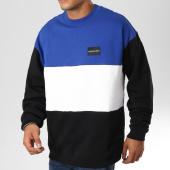 /achat-sweats-col-rond-crewneck/calvin-klein-sweat-crewneck-color-block-instutitionnal-9518-bleu-roi-blanc-noir-159655.html