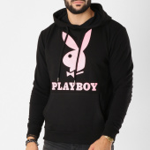 /achat-sweats-capuche/playboy-sweat-capuche-logo-noir-rose-159659.html