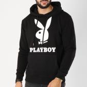/achat-sweats-capuche/playboy-sweat-capuche-logo-noir-blanc-159663.html
