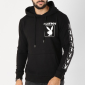 /achat-sweats-capuche/playboy-sweat-capuche-sleeve-bunny-noir-blanc-159667.html