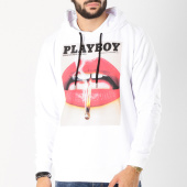 /achat-sweats-capuche/playboy-sweat-capuche-match-blanc-159686.html
