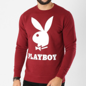 /achat-sweats-col-rond-crewneck/playboy-sweat-crewneck-logo-bordeaux-159692.html