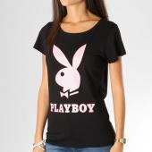 /achat-t-shirts/playboy-tee-shirt-femme-logo-noir-rose-159697.html