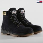 /achat-bottes-boots/tommy-hilfiger-jeans-boots-em0em00235-431-black-iris-159596.html