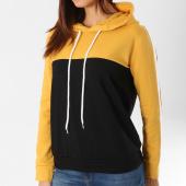/achat-sweats-capuche/girls-only-sweat-capuche-femme-2450-jaune-moutarde-noir-blanc-159898.html