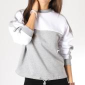 /achat-sweats-col-rond-crewneck/urban-classics-sweat-crewneck-femme-tb1842-gris-chine-blanc-159819.html