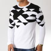 /achat-pulls/ikao-pull-f234-blanc-noir-159927.html