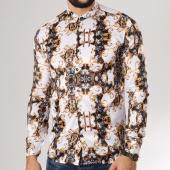 /achat-chemises-manches-longues/ikao-chemise-manches-longues-f260-blanc-noir-renaissance-floral-159973.html