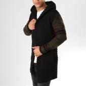 /achat-cardigans-gilets/ikao-gilet-zippe-capuche-oversize-f256-noir-vert-kaki-160099.html