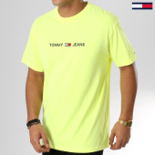 /achat-t-shirts/tommy-hilfiger-jeans-tee-shirt-small-text-5125-jaune-fluo-159959.html