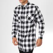 /achat-chemises-manches-longues/urban-classics-chemise-manches-longues-tb10000-carreaux-blanc-noir-160118.html