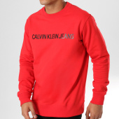 /achat-sweats-col-rond-crewneck/calvin-klein-sweat-crewneck-institutional-logo-7758-rouge-160203.html
