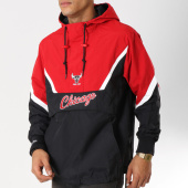 /achat-coupe-vent/mitchell-and-ness-coupe-vent-half-zip-chicago-bulls-noir-rouge-blanc-160324.html
