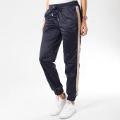 Urban Classics - Pantalon Jogging Femme Avec Bandes TB1857 Bleu Marine Rose 29aef4c9960
