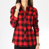 /achat-chemises-manches-longues/urban-classics-chemise-manches-longues-femme-tb1280-noir-carreaux-rouge-160354.html